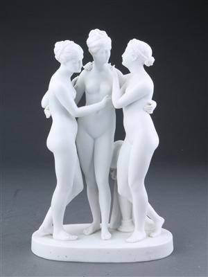 de tre gratier med dyden i midten