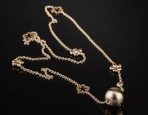 Ole Lynggaard Blonde kæde med kuglelås af guld 14 kt. og 18 kt. 2