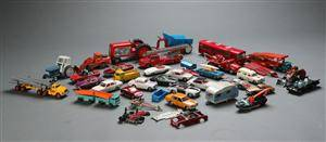 Samling legetøjsbiler, Tekno, Corgi m.fl