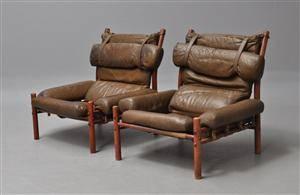 Arne Norell. To lænestole model Inca 2