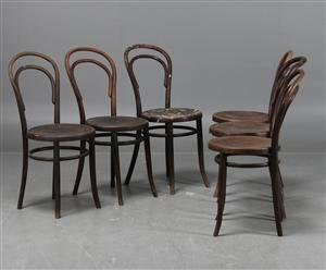 August Thonet, Fischel samt JJ Kohn, caféstolar, 6 st
