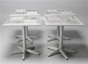 Slutpris For Cafebord Tradgardsmobler 4 Stycken Aluminium