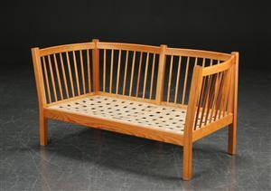 Andreas Hansen. To-pers.sofa, oregon pine
