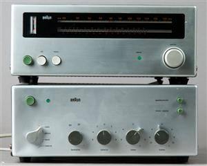 Dieter Rams, CSV 250  CE 250 Radio Tuner und Receiver  Verstärker für Braun 2