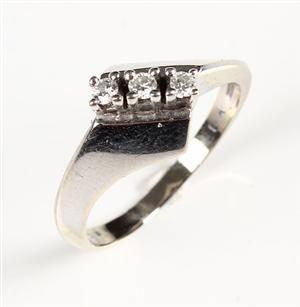Ring, 14 kt hvidguld