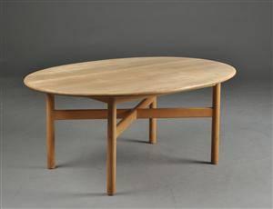 sofabord bøg Slutpris för Haslev møbelsnedkeri. Ovalt sofabord, bøg sofabord bøg