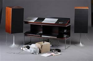 Bang  Olufsen, stereobænk samt anlæg Beogram, beomaster beocord 8000 beogram cd 7000  beovox 5700