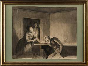 Julius Exner. Tegning