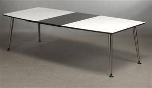 Slutpris för Djob. Spisebord med sort linoleumsplade