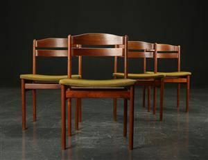 Fire spisestole af teak, Boltinge Møbelfabrik 4