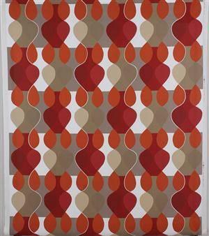 Tyg, Mona Björk, Malaga, orange, bomull, 11 m