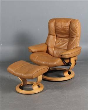 lænestol læder stressless Slutpris för Stressless lænestol og én skammel, lænestol læder stressless