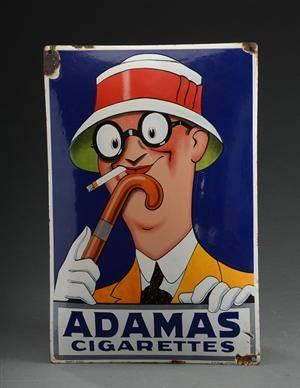 Adamas Cigarettes slutpris för aage lippert. adamas emaljeskilt