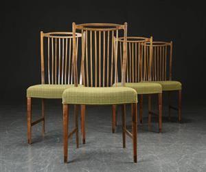 Fire stole af bejdset træ, dansk møbelproducent 4
