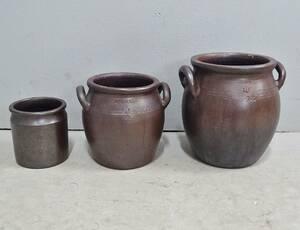 3 st. Höganäs krus, stengods, 10, 6 och 2 liter