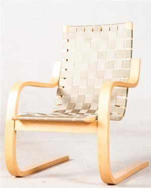 Alvar Aalto Freischwingender Schichtholz Sessel Lounge Modell 406 Fur Artek