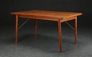 Hvidt  Mølgaard. Spisebord af teak og eg, 1950erne, Søborg Møbler