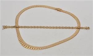 1fa048ad708d Murstens halskæde i forløb samt armlænke af 14 kt. guld 2