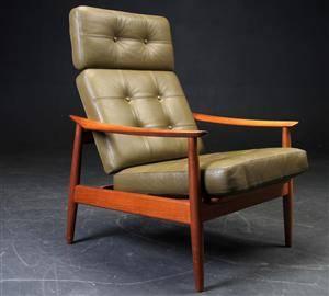 Arne Vodder, højrygget lænestol, model 164  France  Søn.