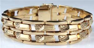 Armlænke af 14 karat guld. Vægt ca 30 gram