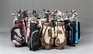 Stort restparti golfbag`s med div. golfkøller.