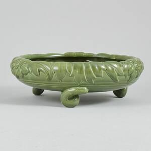 Skål på fot, Glaserad keramik