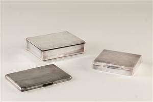 Svensk sølv. Tre cigaretetui 3