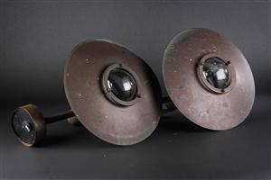 Nordlux. To udendørslamper, patineret kobber 2