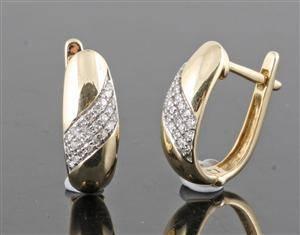 Diamond earrings in 14kt approx. 0.20ct