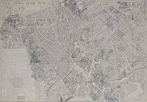 bykort over rom centrum