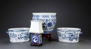 Fire dele kinesisk porcelæn, 1900-tallet