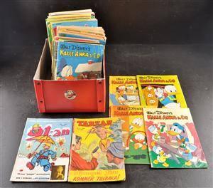 Samling svenska serietidning, bl.a. 1950-tals Kalle Anka  Co