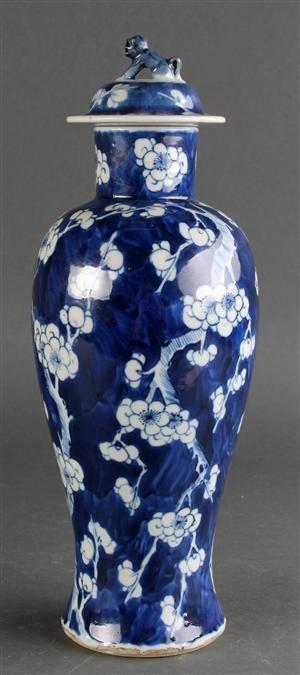 Kinesisk vase af porcelæn