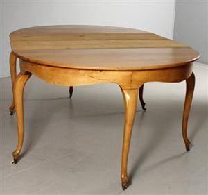 Matsalsbord, s.k månbord med iläggsskivor, nyrokoko, 1800-tal
