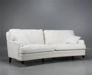 Howard soffa, svängd, 3-sits, vit