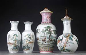 Fire dele kinesisk porcelæn 4