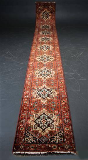 Indisk Heriz 76 x 611 cm.
