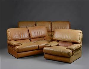 Lysberg-Hansen  Therp Sofasæt bestående af trepers og topers sofa samt lænestol 3