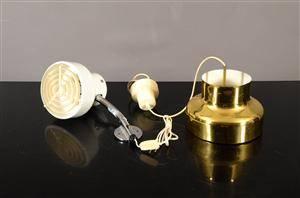 Atelje Lyktan, bumlingen två lampor, vit och guldfärgad 2