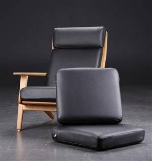 Hyndesæt til H.J. Wegner højrygget lænestol fra Getama model GE 290A, sort læder