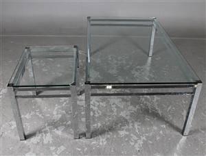 Kanon Slutpris för Soffbord, glas och krom, 2 FU-78