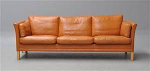 Mogens Hansen 3 pers. sofa i læder model 955