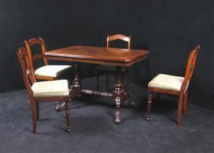 5 Eckiger Tisch.Slutpris För Eckiger Tisch Mit 4 Stühlen
