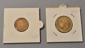 Christian IX  fra 1898 10-kr  Frederik VIII fra 1910 20-kr - begge i guld.2