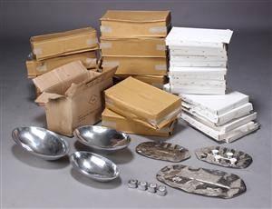 Samling fade og skåle, aluminium 182