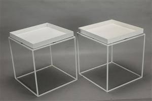Hay. Tray tables - hvidlakerede 2