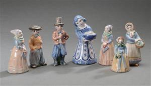 keramik l hjorth Slutpris för L. Hjorth. Syv figurer af keramik l hjorth
