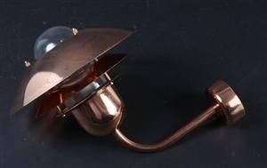 Nordlux. Par udendørs væglamper af kobber, model Aalborg.