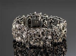 Per Algot Enevoldsen. Vintage Pandora sølvarmbånd