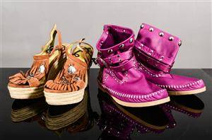 Damskor, två par Replay sandaler  L di R ankel boots st. 39-40